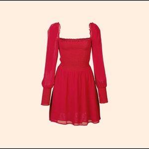 Reformation Red Mini Kelly Dress